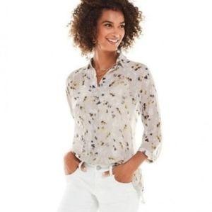 CAbi 3/4 sleeve Matinee blouse